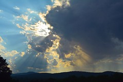 2016_0722Beaming-Down0001 (maineman152 (Lou)) Tags: sun sunrays crepuscular crepuscularrays cloud clouds cloudysky sky skydrama skycolor skycolors skyscene skyscape skyview storm storms stormclouds nature naturephoto naturephotography landscape landscapephoto landscapephotography summersky summer july maine