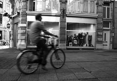 I want to ride my bicycle (Ren-s) Tags: blackandwhite noiretblanc city ville town citycenter centreville belgium belgique antwerp anvers europe bike vlo speed pavement pavs vitesse