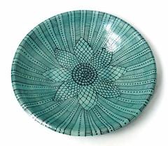 Turquoise and Black Doodle Bowl (jmnpottery) Tags: ceramics pottery jmnpottery etsy bowls pots planters utensilholder prepbowls mugs