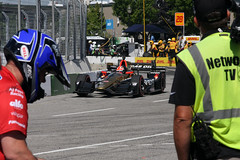 Mayor of Hinchtown finishes 3rd (scienceduck) Tags: scienceduck 2016 july toronto tdot ontario james hinchcliffe jameshinchcliffe 5 tv camera crew pitlane canada irl indyracingleague indy torontoindy hondaindytoronto pits