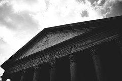 Panteon - Rome (fgazioli) Tags: amarelo nikon d5300 blackandwhite pb blackwhite pretoebranco architecture italia italy rome roma
