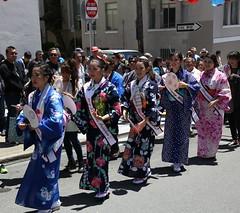 Bon Odori Uta: Uchiwa (beppesabatini) Tags: 78thginzabazaar85thbonodori obon buddhistchurchofsanfrancisco japantown california streetfestivals kimonos dance beautyqueens churchbazaar buddhist buddhistchurchesofamerica