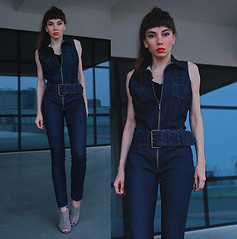 Denim jumpsuit by Jointy&Croissanty ., girl from Poland, Poland (9lookbook.com) Tags: boho casual chic classic edgy girly lacedress look minimal ootd outfit romantic street streetstyle streetwear