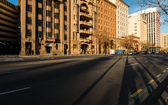 North Terrace (Andrew_Dempster) Tags: sa morning selfieshadow urban morninglight australia bus city southaustralia architecture adelaidecity adelaide northterrace