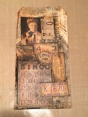 Online Card Classes (clperry) Tags: layered collage distress medium crayons