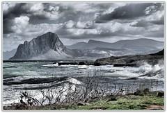 """Golfo di Bonagia """" Mare mosso"""" (Schano) Tags: landscape italia hdr sicilia paesaggio trapani motecofano sel55210 ilce3000 sonyilce3000 sonyemount55210 sony3000"""