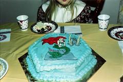 Old Photos: My 6th Birthday Cake (L0N) Tags: birthday old cake vintage little photos disney mermaid thelittlemermaid colorflow