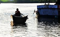 at the river... unhurried! (Ruby Ferreira ®) Tags: reflection rio river boats fishermen barcos ripples reflexos mata bertiogasp brasilemimagens rioitapanhaúm litoralnortepaulistano