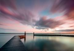 Gooimeerdijk (Stef van Winssen) Tags: sunset sky lake seascape water clouds dawn long exposure le almere gooimeer