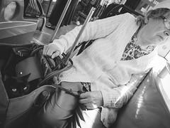 Geneva street (3rdmonkey) Tags: bus cat streetphotography oldwoman iv tramway ricoh grd