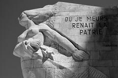 FRANCE, Ain, Cerdon - Val D'Enfer (Bruno Cochet) Tags: white black monument libert aragon worldwar maquis memoire momory statut rsistance libration patrie secondeguerremodiale