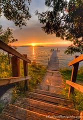 A 'Settling' Sunset ... II (Ken Scott) Tags: sunset summer usa dock michigan steps july stairway lakemichigan greatlakes hdr freshwater voted leelanau 2016 45thparallel backpage kenscott bigglenlake alligatorhill sbdnl sleepingbeardunenationallakeshore mostbeautifulplaceinamerica kenscottphotography kenscottphotographycom