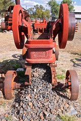 Belt driven stone crushing machine (outback traveller) Tags: historic seq