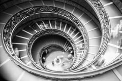 Spirale (Cit Loris) Tags: bw italy vatican rome roma history monument monochrome saint stairs pose long italia noiretblanc indoor histoire catholicism italie spirale longue catholique