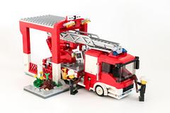 Mercedes-Benz Atego Fire Truck (Galaktek) Tags: city red fire lego mercedesbenz minifig foitsop galaktek