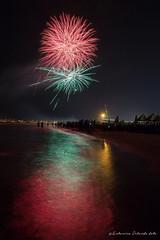 Fireworks 4 (antoninao) Tags: orlando antonina 5d mark iii canon fumes santandrea party abruzzo pescara tricolor crowd sea water reflexes lights colors artifice fires