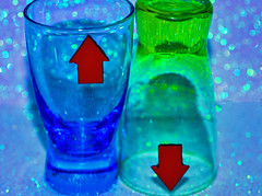 Blue and Green should never be shown,                     Especially when one is UP and the other is DOWN (Illidge W) Tags: elements macro mondays opposites