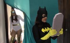 bw1 (jayphelps) Tags: fetish cosplay spiderman superhero batgirl spandex superheroine