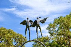 """""""Angels in the Sky"""" (Pandymonium) Tags: sculpture angels wings sky cemetery memorial photo photography perthphotographer"""