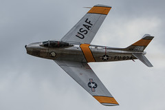 """North American F-86F Sabrejet """"Jolley Roger"""" (Norman Graf) Tags: jolley roger 2016planesoffameairshow 525012 airshow aircraft airplane f86 f86f fu834 fighter jet koreanwar n186am nx186am northamerican plane sabre sabrejet warbird jolleyroger"""