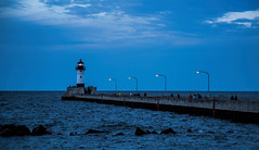 Duluth Harbor North Breakwater, MN (SPP- Photography) Tags: northbreakwaterlighthouse blue bluehour canalpark breakwater duluth lighthouse northbrakewater duluthmn lakesuperior minnesota