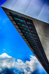 in the sky (camerito) Tags: architecture redbull ring austria styria steiermark sterreich spielberg formula1 formel1 building gebude tribne startziel camerito nikon1 j4 flickr clouds sky wolken himmel