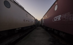CFR CFR (gabegabe336) Tags: depot cfr sunset rail track train trains explore urbanexploration urbanexploring urbex ue