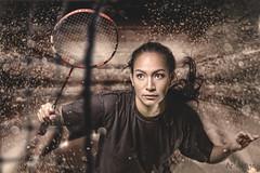 THE ATHLETE (ArtNinjaph) Tags: art ninja artninja artninjaph aien tennis sport woman girl energy sportfest photography sportphotography photomanipulation