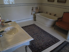 The Elms Bathroom (ty law) Tags: newportri cottages vanderbilt thebreakers cliffwalk salveregina marblehouse rosecliff theelms servanttour bathroom gildedage robberbaron captainofindustry edwardian american grand grandiose flowers atlanticocean rhodeisland copper