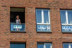 window watchers 5 (stevefge) Tags: nijmegen vierdaagse girls nederland netherlands nederlandvandaag people candid windows reflectyourworld summer