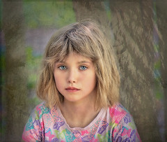 Little Girl  Piercing Eyes (jta1950) Tags: kid kids child children enfant girl fille portrait littlegirl younggirl cute adorable person people texture d300 eyes 8yearold