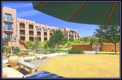 conundrum (milomingo) Tags: outdoor southwest tamaya resort hotel hyattregencytamayaresort newmexico albuquerque bernalillo pueblo architecture texture grain umbrella adobe sketch frame photoborder arid desert