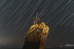 Aegean Sky III (Alexis Methenitis) Tags: green galaxy blue nightphotography night zeissbatis225 sony sonya7rii sonya7rmkii sonya7rm2 sonyilce7rm2 gythio greece europe coast landscape longexposure water sunset summer stars sky shore sea rocks reflections outdoor moonlight