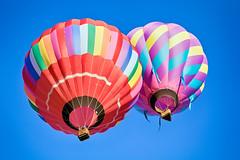 Getting Higher Together (matthewkaz) Tags: balloon balloons hotairballoon hotairballoons flying sky balloonfest michiganchallenge howell michigan 2016