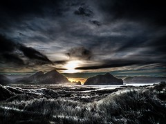 Whatipu, the primordial looking West Coast, Auckland, New Zealand, Aug 2016 (bishop.mark95) Tags: whatipu sunrise westcoast clouds auckland storm dinosaur primeval