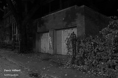 rue Larivire/Garage 2 (Denis Hbert) Tags: denishbert anthropogeo faubourgmlasse centresud montreal montral qubec quebec canada 2015 extrieur monochrome montrealnight montrealcentresudnight montrealfaubourgmlassenight ngc newtopographer newtopographics newtopographic noiretblanc nuitcentresud nuitfaubourgmlasse nuitmontreal nuit nb bw blackandwhite blackwhite black blanc ville vgtation city automne november novembre noir canon steet shadowy shadows shadow darkandlight garage fall ombrage ombre urban urbaine urbain rue trottoir decay abandonned abandonne lesabrutisnevoientlebeauquedanslesbelleschoses