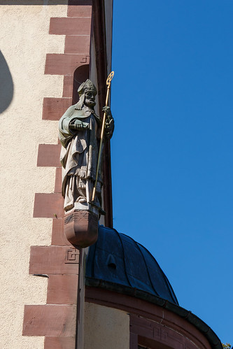 Statue à l'église St. Arbogast d'Haslach im Kinzigtal