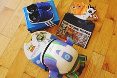 Buzz Lightyear bag from Auntie Kayleigh (xocherrywaves) Tags: birthday 1st happy baby boy cody party hat cake candles dad mom crayons smile fun playing exploring adventure football slide ball presents cards money family love celebration sunny