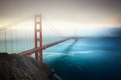 Golden Gate Bridge, San Francisco (Alistair Bennett) Tags: goldengatebridge batteryspencer sanfrancisco marinheadlands pacificocean highway101 california usa fog mist sunrise longexposure gnd045se nd18 canonef1740mm4lusm