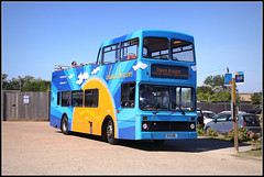 Olympian at the Zoo (Jason 87030) Tags: downsbreezer islandbreezer sandown zoo volvo olympian blue holiday august 2016 oly northerncounties island iow isleofwight opentop topless deck doubledecker tourists tourism park england uk ladies mainland withdrawn sunshine