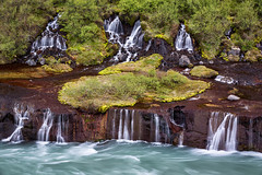 Two Tier (Kirk Lougheed) Tags: hraunfossar hvitariver iceland icelandic bank cascade landscape outdoor river water waterfall
