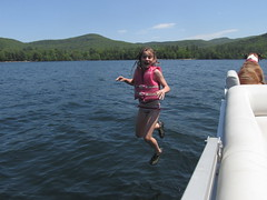 Lake St. Catherine, Vermont (A Newbold) Tags: family friends vacation lake holiday colour water beautiful swimming fun amazing jump fishing vermont kayak campfire lifevest cleanwater partyboat lakestcatherine swimvest partycraft lakelife