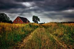 Dark clouds (radonracer) Tags: clouds landscape feld wolken landschaft bauernhof darkclouds kornfeld niederrhein