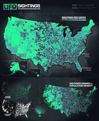 UFO Sighting Locations Since 1925 (www.IDVsolutions.com) Tags: geek map ufo scifi data