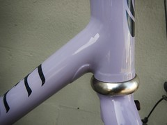 Lilac Eprouve (guidedbybicycle) Tags: paul handmade steel brakes custom saddle cyclocross components fillet cantilever seatpost brazed flite