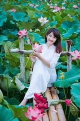 Áo dài bên đầm sen (duyblog.com • nguyenanhduy.com) Tags: sen áodài thiếunữ đầmsen trongdamgidepbangsen