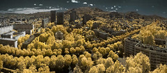 Just breathe (Lolo_) Tags: city trees urban france streets buildings ir anne gold town marseille sainte boulevard centre cit center panoramic arbres infrared rues ville cabot dor radieuse immeubles btiments infrarouge michelet mazargues