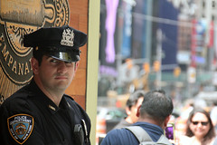 Faces of New York: NYPD cop (Canadian Pacific) Tags: usa us unitedstates ofamerica america american city urban newyork manhattan people newyorker timessquare aimg6728 police man policeman nypd cop