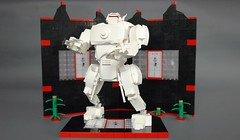 A.W.S.M - All White Samurai Mech (2) (adde51) Tags: white tree japan japanese purple lego background samurai mecha mech moc foitsop adde51