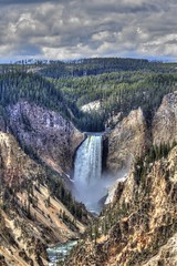 Yellowstone Falls (Rik Tiggelhoven Travel Photography) Tags: world park travel usa art heritage fall nature water clouds america canon river landscape photography waterfall nps outdoor falls unesco national 7d service yellowstone wyoming np amerika paysage landschaft hdr rik ef70300mmf456isusm tiggelhoven